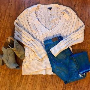 Express oversized knit sweater